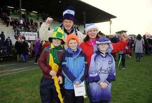 Fans Liam and Orla Vaughan, from Kells, and sons Matthew, Luke and Anthony