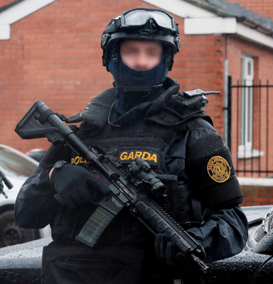 The garda Emergency Response Unit will be responsible for moving the couple around – and snipers will be deployed