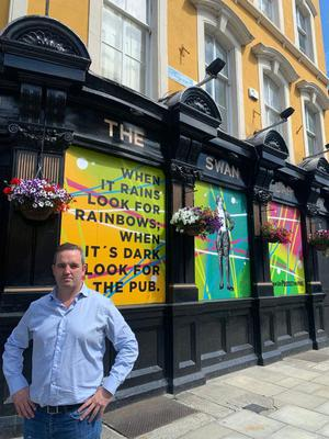 Ronan Lynch runs The Swan Bar, which has been closed for five months, on Aungier Street