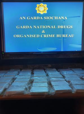 Some of the €3.5m haul of cocaine detected yesterday