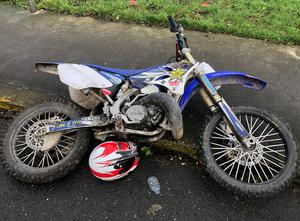 One of the 11 scrambler bikes seized on Christmas Day