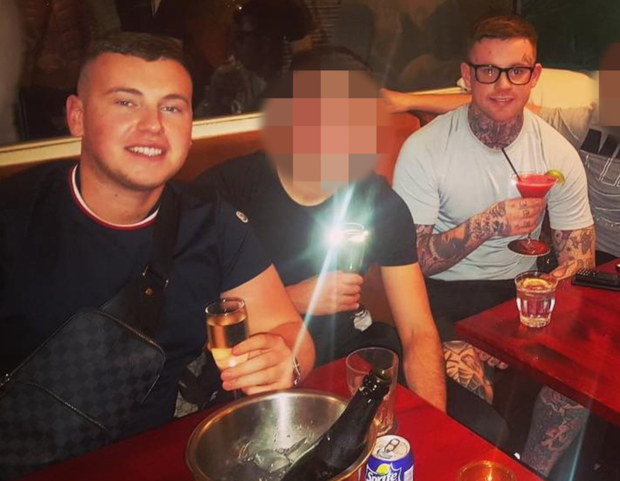 A picture from Sean Little's social media shows him and Zach Parker enjoying champagne and cocktails
