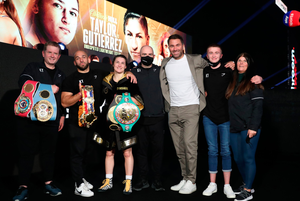 Katie Taylor and her team