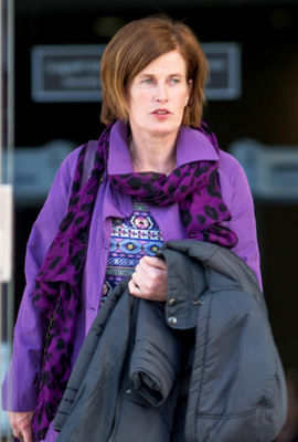 Mary Lowry at court