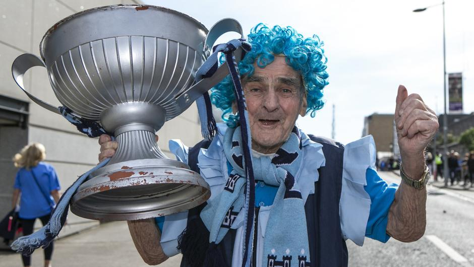 Tony Broughan, known to GAA fans as Molly Malone, attended Dublin games for 80 years