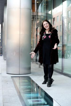 Moya Brennan pictured at the album display outside Windmill Lane Recording Studios