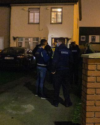 Gardaí responding to the incident in Greenfort                 Crescent, Clondalkin