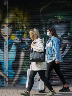 Shoppers have been encouraged to wear masks in Dublin city