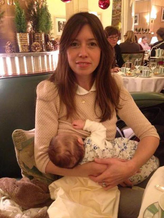 Louise Burns almost burst into tears when the waiter rushed in with a napkin
