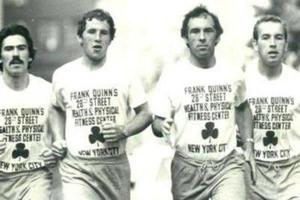 Brothers Sean, Brian, Frank and Mick Quinn run together in the New York City marathon