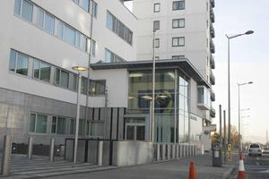 A suspect was arrested and is being held at Ballymun Garda Station