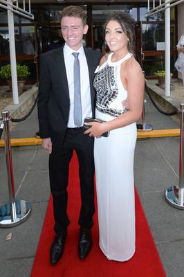 Alice Byrne (18) wearing Folkster and Sam Fearon (19) at the Santa Sabina Domincan College Debs.