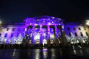 Pictured is the GPO on O'Connell Street, as after nearly one year in planning, 'Winter Lights Dublin City' proudly presented by Dublin City Council IS NOW LIVE.