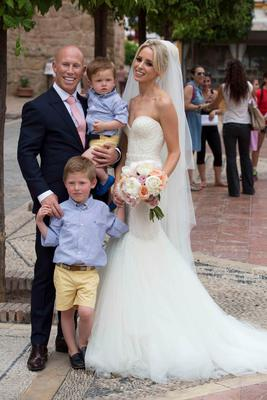 Pics show the wedding of Irish rugby union player Peter Stringer and Deborah O'Leary.
