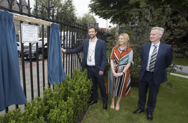Councillor Michael Watters, representing the Lord Mayor, Paul Mc Auliffe, officially re-opened the Peace Garden at Christchurch Place, Dublin 8