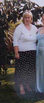 Annette before starting her diet, which has seen her drop nearly 6st