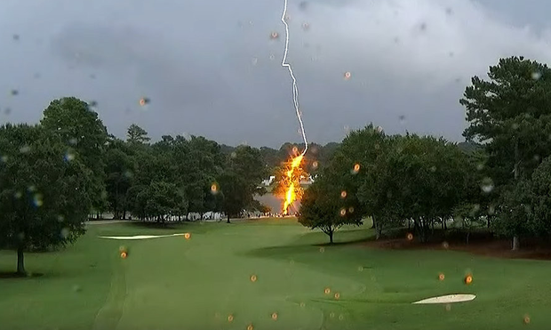 Moment the lightning struck