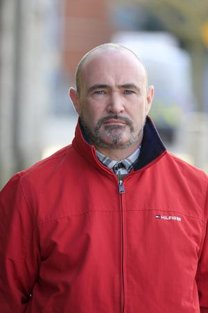 Taxi driver Peter McLoughlin was assaulted by Michael Lawrence