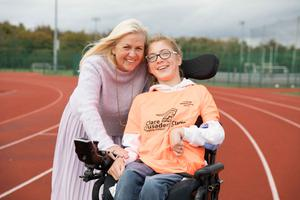 Ann Norton with her daughter Nicole, who is preparing for the virtual Dublin City Marathon