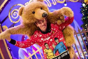 Ryan Tubridy pictured on the Roald Dahl themed set of this years The Late Late Toy Show