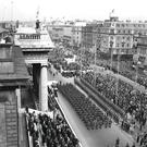 O'Connell Street during the commemoration in 1966