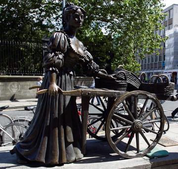 The Molly Malone Statue. Photo: Kyran O'Brien