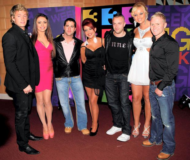Cast of Tallafornia, from left, David Behan, Kelly Donegan, Cormac Branagan, Nikita Murray, Phil Penny, Natalie Geraghty and Jay Abbey.