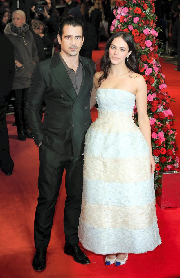 Colin Farrell and Jessica Brown Findlay attend the UK Premiere of