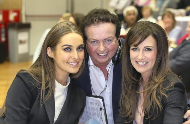 Marty Morrissey with Roz Purcell and Lorraine Keane
