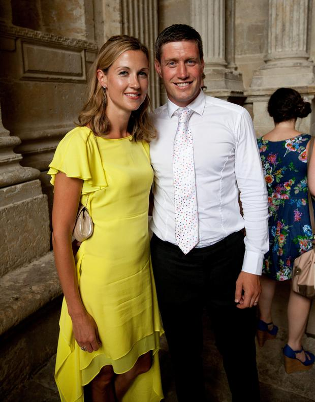 Ronan O'Gara and his wife Jessica
