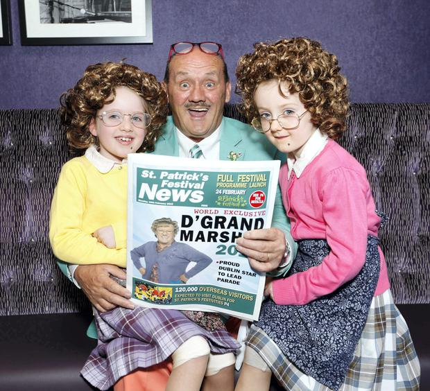 Brendan O'Carroll has been selected as this years Grand Marshal of the 2015 St. Patricks Festival Parade