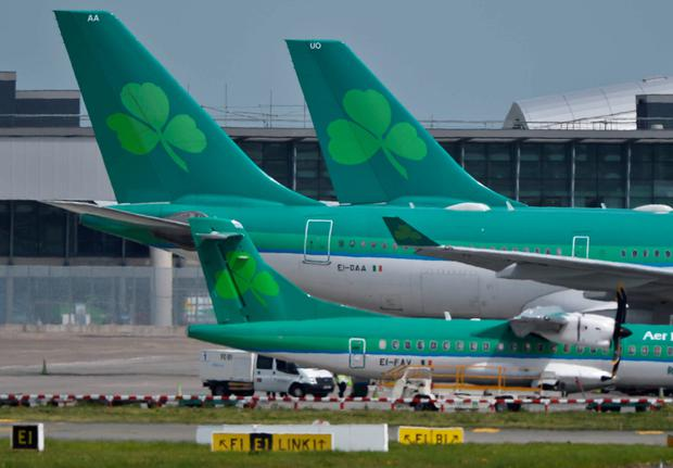 Aer Lingus planes on the tarmac