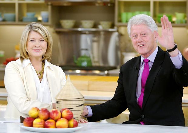Martha Stewart with Bill Clinton