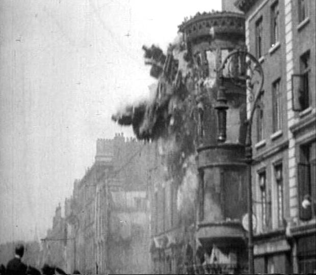 An explosion on O'Connell Street in 1916