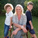 Amanda Brunker and sons