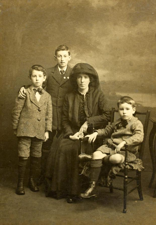 Kathleen Clarke and her family shortly after The Rising
