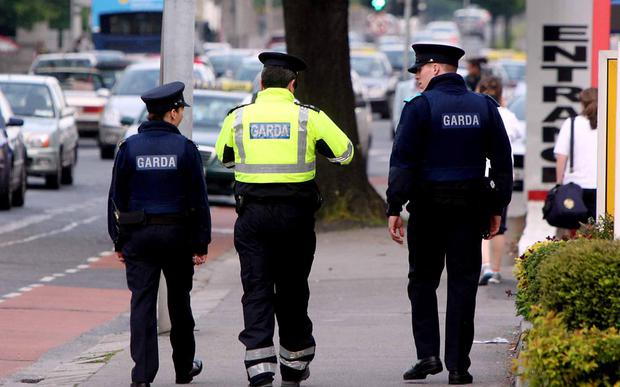 Gardai on patrol in Dublin