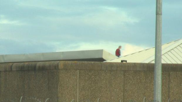 Cloverhill Prison inmate on roof