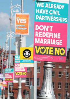 Posters on lampposts ahead of the referendum