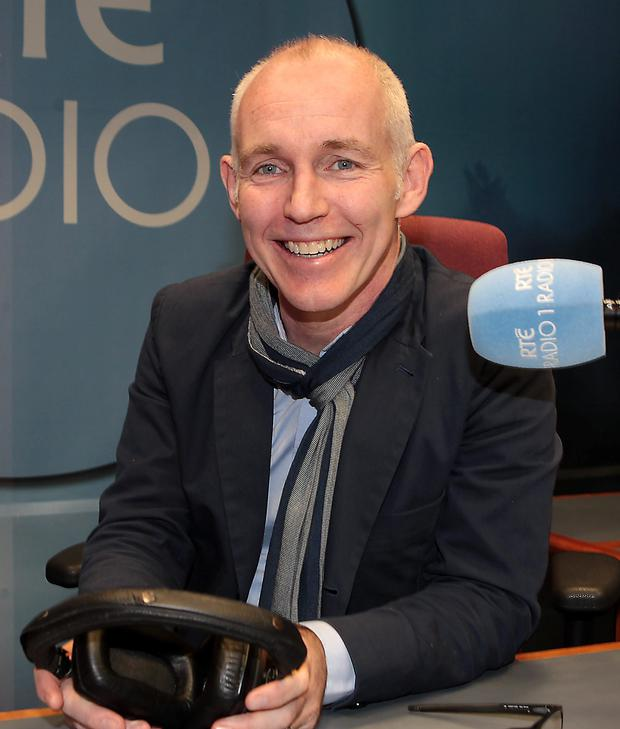 Ray D'Arcy at RTE yesterday