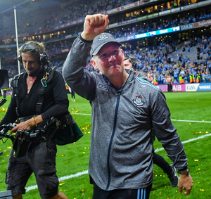 Famous day: Dublin manager Jim Gavin after the All-Ireland SFC Final replay win over Kerry at Croke Park last September