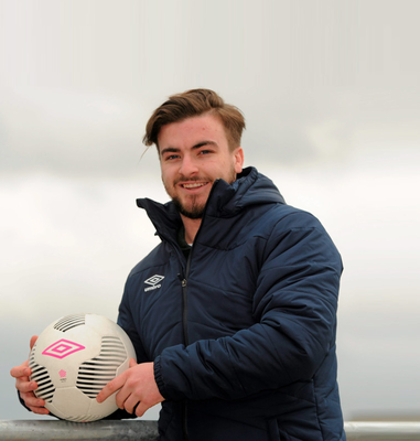 Cody Mulhall, pictured during the PFA Ireland training camp & FIFPro Winter Tournament announcement at the National Training Centre, Abbotstown yesterday