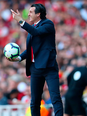 Unai Emery will be hoping Arsenal can bounce back from Sunday's defeat to Crystal Palace when they take on Wolves at Molineux tonight. Pic: PA