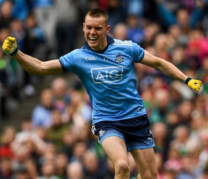 Dublin's O'Callaghan celebrates his first goal against Mayo earlier this month. Photo: Sportsfile