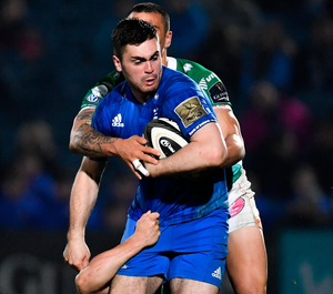 Leinster's Conor O'Brien in action against Benetton during the PRO14 match at the RDS Arena