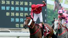 VETERAN: Mr Stunning wins the Chairman's Sprint Prize in Hong Kong. Pic: Getty