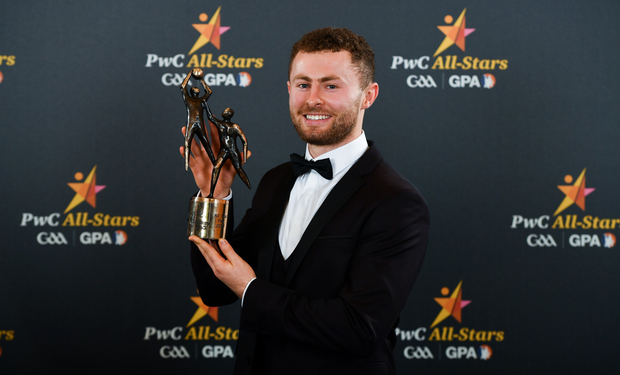HONOURS: Jack McCaffrey with his PwC All-Star award. Pic: Sportsfile