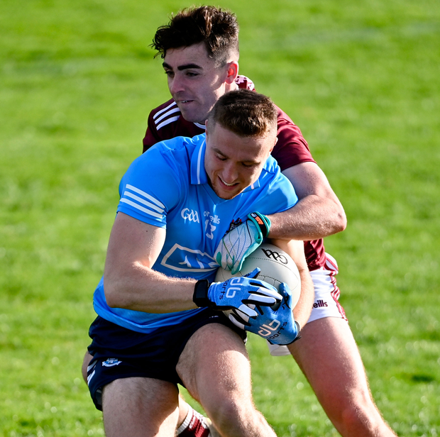 Paddy Small in action for Dublin against Galway in the League