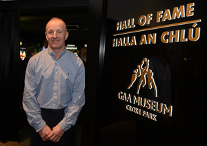 Former Meath footballer Martin O'Connell at the opening of the Hall of Fame at the GAA Museum in Croke Park