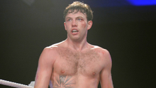 Andy Lee after victory over Jason McKay earned him the Irish super middleweight crown at the National Stadium